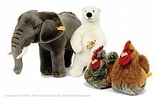 GRP inc Steiff and Kosen 4 x plush items Steiff