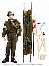 Palitoy vintage Action Man Army Medic. Red