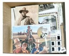 QTY inc John Wayne memorabilia: (1) Video