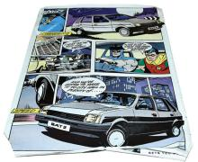 Batman Austin Metro rare double sided