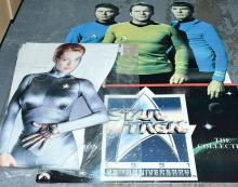 PAIR inc Star Trek large card displays: (1) CIC