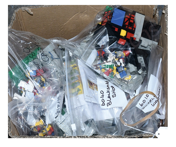 GRP inc Lego Castle loose vintage sets