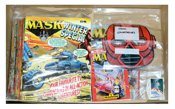 QTY inc Kenner MASK collectables and comics