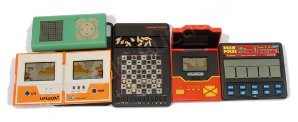 GRP inc Electronic hand held vintage games