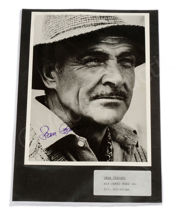 Sean Connery autograph, signed to black