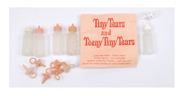 GRP inc Palitoy Tiny Tears seven pacifiers