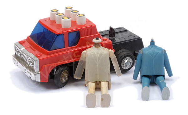 GRP inc Prototype red battery operated vehicle