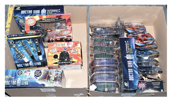 GRP inc Doctor Who and Star Wars Toys