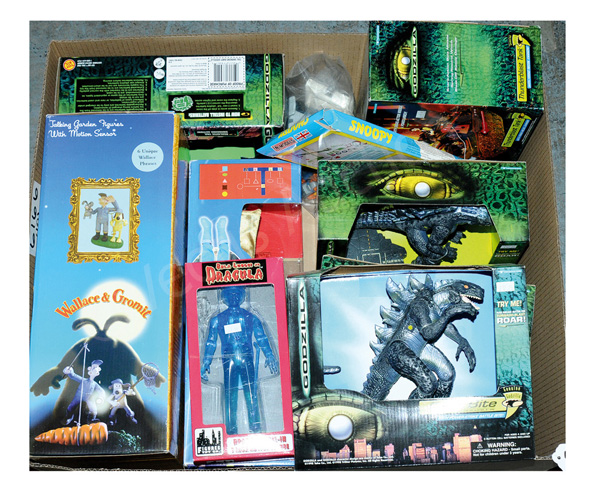 GRP inc Godzilla, Wallace and Gromit, etc