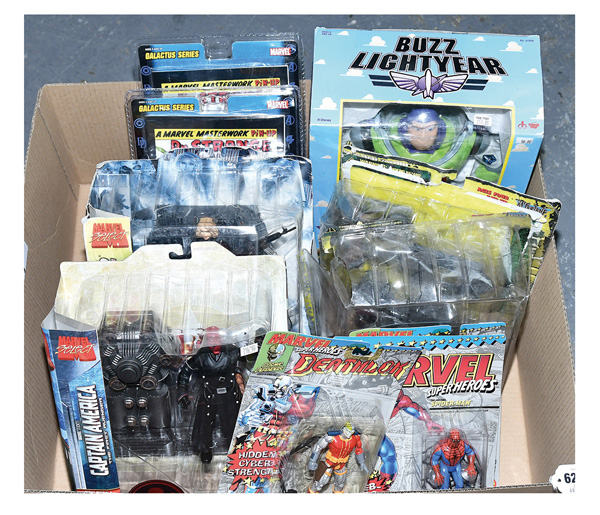 GRP inc Action figures: (1) & (2) Toy Biz Marvel