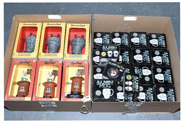 GRP inc Talking alarm clocks and mugs: (1) - (6)