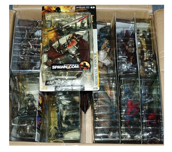 GRP inc McFarlane Spawn figures trade box