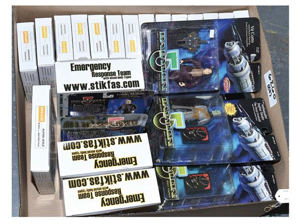 GRP inc Stikfas and Babylon 5 toys: (1) - (3)
