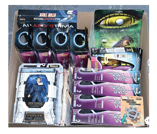 GRP inc Star Trek action figures and other toys