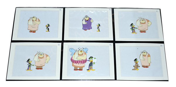 GRP inc Count Duckula six animation cells