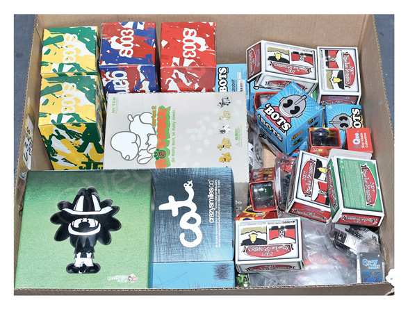 QTY inc Kubricks Japanese Toy Art figures, Crazy