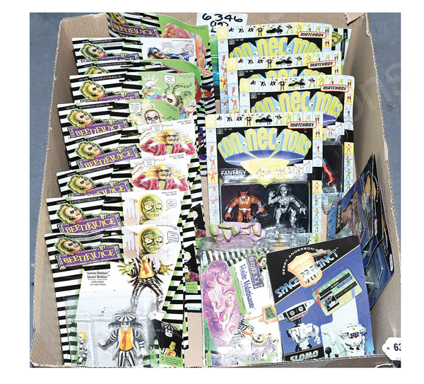 Film related action figures: (1) - (10) Kenner