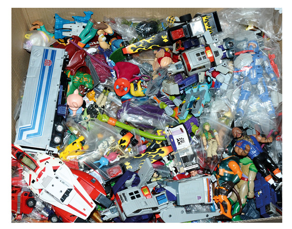 QTY inc Large box of loose toys, includes