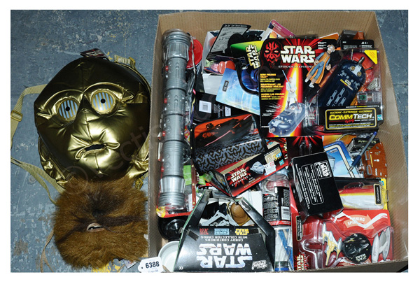 QTY inc Kenner/Hasbro Star Wars toys and other