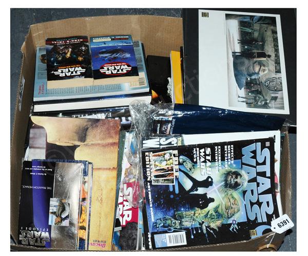 QTY inc Star Wars reference books, novels