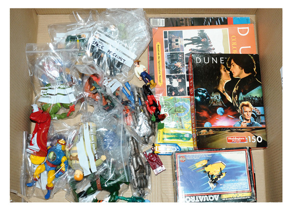 QTY inc Miscellany of TV & Film related toys