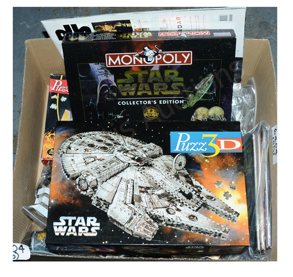 Star Wars assorted games and toys, etc- includes
