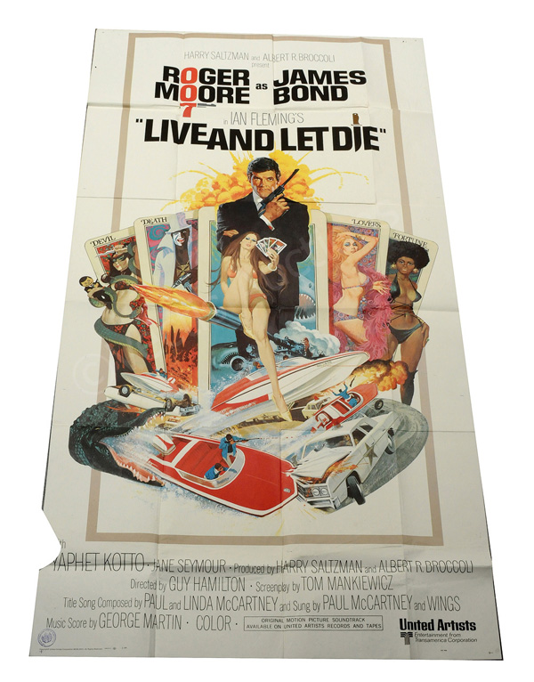 Live And Let Die (1972). US Three Sheet. East