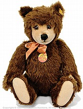 Steiff original Teddy Bear, dark brown mohair