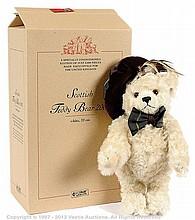 Steiff Scottish Bear, white mohair bear, 2001