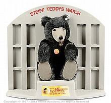 Steiff Grey Watch Teddy shop display, 1992