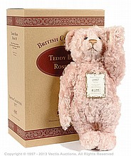 Steiff British Collectors pink rose mohair Teddy
