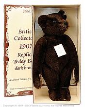 Steiff British Collectors 1907 Teddy Bear, dark