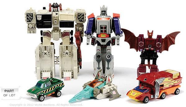 LRG QTY Hasbro Vintage Transformers toys