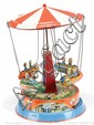German tinplate clockwork Roundabout