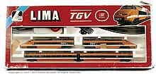 Lima HO Gauge TVG Set 104402 TVG pantograph loco