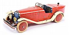 Meccano No.2 Constructor Car in red and cream