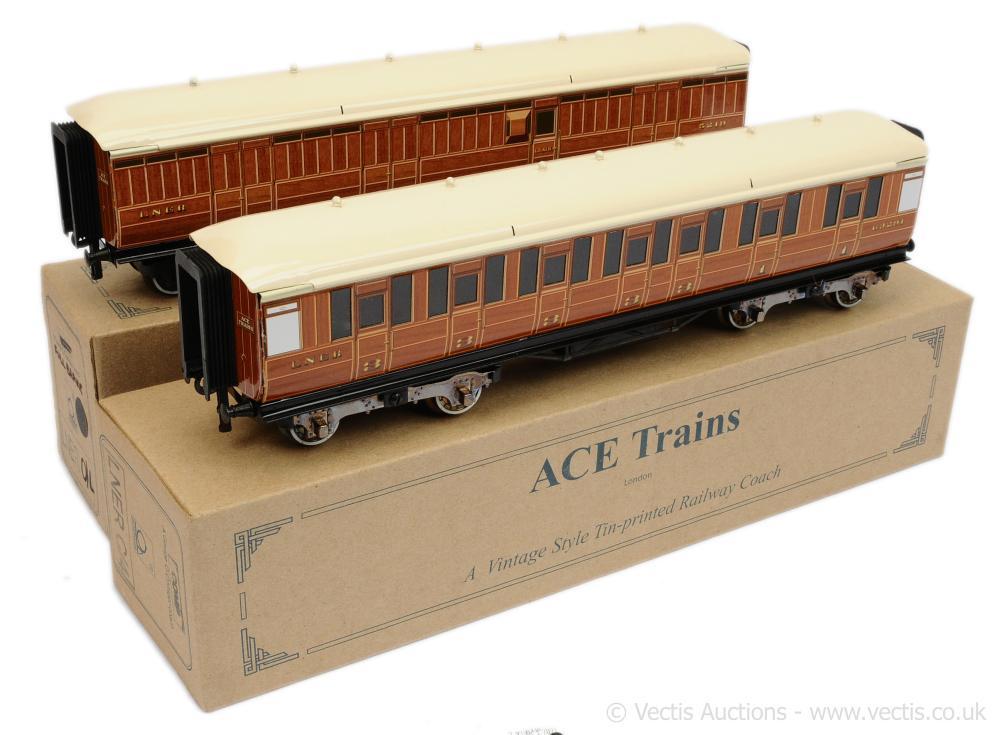 PAIR inc ACE O Gauge LNER C/4 Coaches 1st 3rd