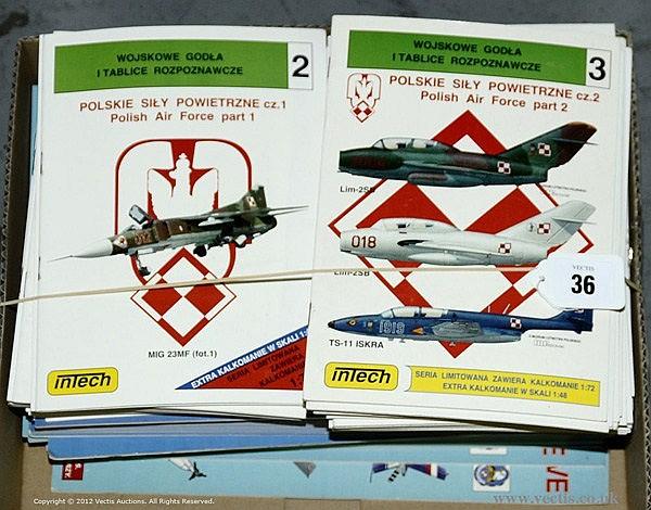 QTY inc Intec (Poland) - 71 x Aircraft Profiles
