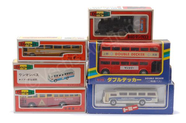 GRP inc Diapet 3 x Buses, No.287 loco; Tomica