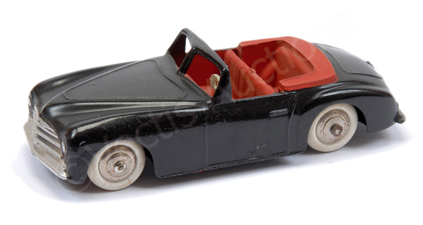 French Dinky Simca 8 Sport - black body, red
