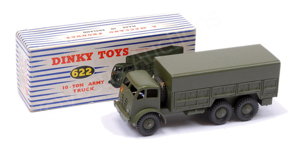 Dinky No.622 10-ton Army Truck - green metal