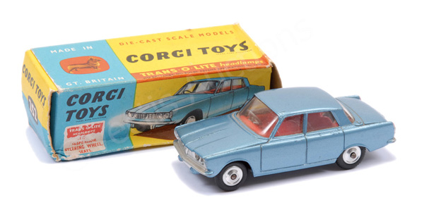Corgi No.252 Rover 2000 - steel blue, red