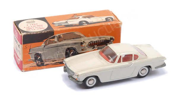 Tekno No.825 Volvo P1800 - cream body, red