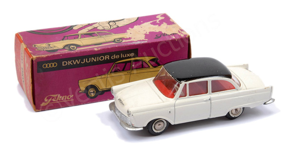 Tekno No.727 DKW - white body with black roof