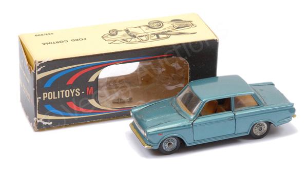 Politoys No.507 Ford Cortina saloon - blue body