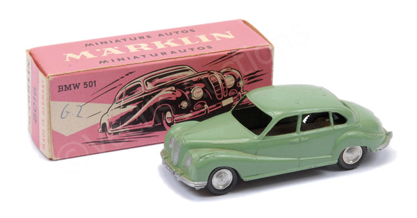 Marklin No.8016 BMW 501 - pale green, chrome
