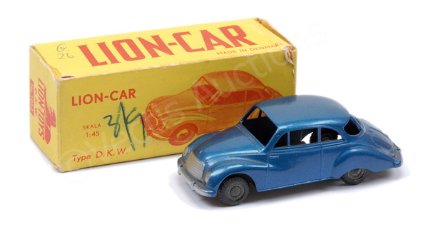 Lion-Car No.1053 DKW - blue body, silver trim