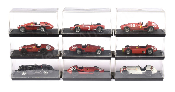 GRP inc Brumm Ferrari Racing Cars 156F1; 555 F1