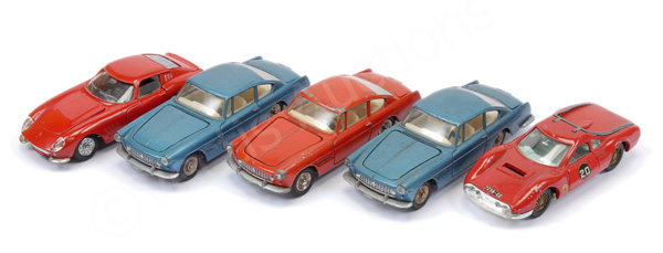 GRP inc French Dinky unboxed Ferraris