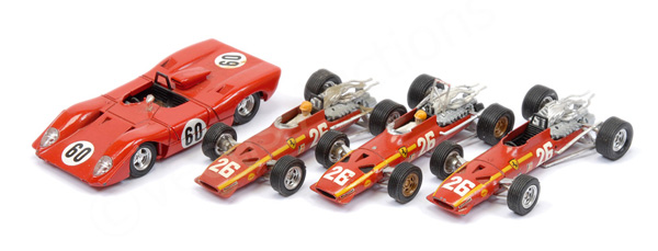 GRP inc French Dinky unboxed Ferrari Racing Cars
